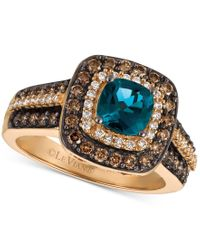Le Vian | Metallic Chocolatier London Blue Topaz (1 Ct. T.w.) And Diamond (3/4 Ct. T.w.) Ring In 14k Rose Gold | Lyst