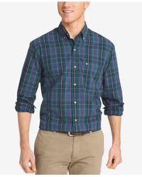 Izod | Blue Men's Big & Tall Macinnes Plaid Shirt for Men | Lyst