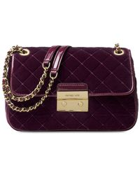 Michael Kors | Purple Michael Sloan Large Chain Shoulder Bag | Lyst