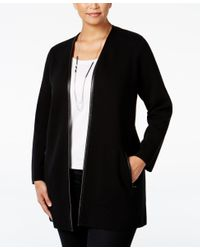 Charter Club Black Plus Size Milano Duster Cardigan, Only At Macy's