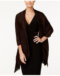 INC International Concepts | Black Tiny Pleated Wrap | Lyst