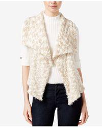 Kensie | Natural Faux-fur Draped Vest | Lyst