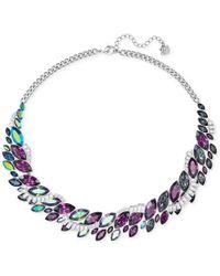 Swarovski | Metallic Silver-tone Rainbow Crystal Collar Necklace | Lyst