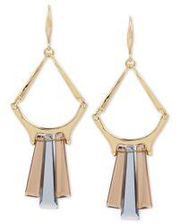 Robert Lee Morris - Metallic Gold-tone Stone Drop Earrings - Lyst