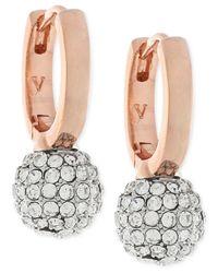 Vince Camuto | Metallic Pavé Sphere Huggy Hoop Earrings | Lyst