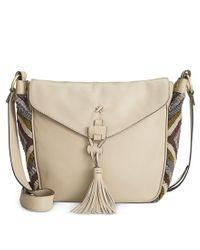 Nanette Lepore   Natural Flap Saddle Bag   Lyst