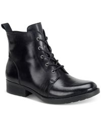 Born - Black Troye Ankle Lace-up Booties - Lyst