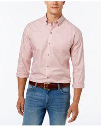 Cutter & Buck | Pink Men's Check Oxford Shirt for Men | Lyst