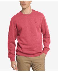 Izod | Pink Men's Saltwater Fleece Crew-neck Sweatshirt for Men | Lyst