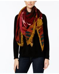 Steve Madden | Multicolor Modern Geo Global Square Scarf | Lyst
