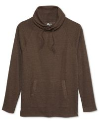 American Rag | Brown Men's Raw-edge Funnel-neck Sweatshirt, Only At Macy's for Men | Lyst
