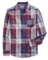 American Rag | Blue Men's Plaid Shirt, Only At Macy's for Men | Lyst