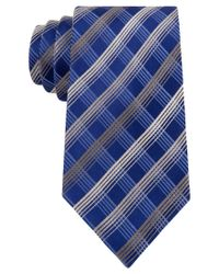 Geoffrey Beene | Blue Men's Office Chic Plaid Tie for Men | Lyst