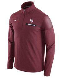 Nike Red Men's Oklahoma Sooners Elite Coaches Half-zip Pullover for men