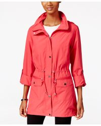 Style & Co.   Red Hooded Anorak Jacket, Only At Macy's   Lyst