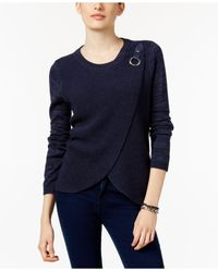 INC International Concepts | Blue Mixed-knit Layered Sweater, Only At Macy's | Lyst