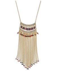 INC International Concepts | Natural Gold-tone Multicolor Bead Fringe Statement Necklace | Lyst