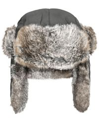 Woolrich | Black Supplex Faux-fur Trooper for Men | Lyst