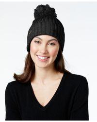 Calvin Klein | Black Pom Pom Beanie | Lyst