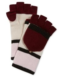 kate spade new york | Red Colorblock Pop Top Gloves | Lyst