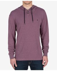Volcom | Purple Men's Murphy Thermal Hooded Knit for Men | Lyst