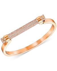 Swarovski - Metallic Friend Pavé Crystal Bar Bangle Bracelet - Lyst