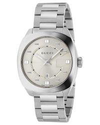 Gucci Metallic Men's Gg2570 Swiss Stainless Steel Bracelet Watch 41mm Ya142308 for men