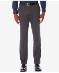 Perry Ellis | Gray Men's Knit Slim-fit Dress Pants for Men | Lyst