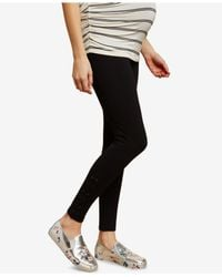 Jessica Simpson - Black French Terry Maternity Leggings - Lyst