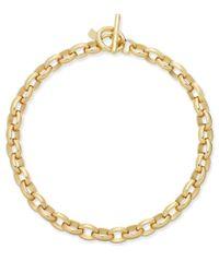 Lauren by Ralph Lauren | Metallic Gold-tone Oval-link Statement Necklace | Lyst