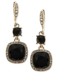 Givenchy | Metallic Cushion-stone And Crystal Drop Earrings | Lyst