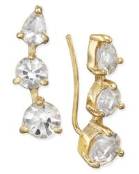 Kate Spade | Metallic Gold-tone Multi-stone Ear Climbers | Lyst
