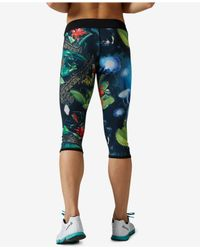 Reebok - Black Crossfit Reversible Chase Capri Leggings - Lyst