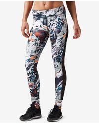 Reebok | Black Dance Electric Paradise Printed Leggings | Lyst