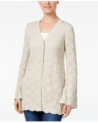 Style & Co. | Multicolor Petite Three-button Marled Cardigan, Only At Macy's | Lyst