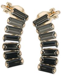 ABS By Allen Schwartz | Black Gold-tone Rectangle Crystal Ear Climbers | Lyst