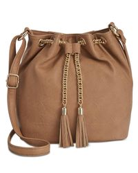 INC International Concepts | Brown Pravi Bucket Bag, Only At Macy's | Lyst
