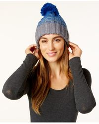 Rampage | Gray Colorblock Beanie, Only At Macy's | Lyst