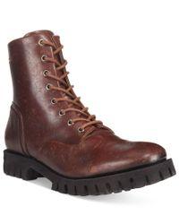 DIESEL   Brown Men's Kross D-line Leather Boots for Men   Lyst