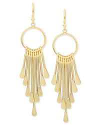 Hint Of Gold - Metallic Gold-plated Shaky Drop Earrings - Lyst