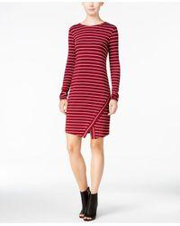 Kensie | Red Striped Scissor-hem Sheath Dress | Lyst