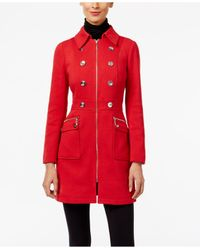 INC International Concepts   Red Ponte Walker Coat, Only At Macy's   Lyst