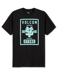 Volcom - Black Men's Graphic-print T-shirt for Men - Lyst