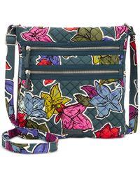 Vera Bradley - Multicolor Iconic Triple-zip Hipster Crossbody - Lyst