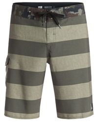 Quiksilver | Green Men's Stripe Boardshorts for Men | Lyst
