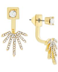Vince Camuto | Metallic Gold-tone Crystal Fan Front And Back Earrings | Lyst