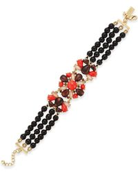 kate spade new york | Red Burst Into Bloom Gold-tone Boho Stone Bracelet | Lyst