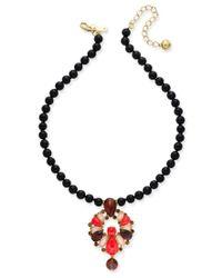 Kate Spade | Metallic Burst Into Bloom Gold-tone Beaded Boho Collar Necklace | Lyst