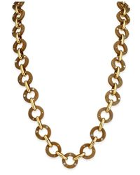 kate spade new york | Multicolor Out Of Her Shell Gold-tone Tortoiseshell-look Long Necklace | Lyst
