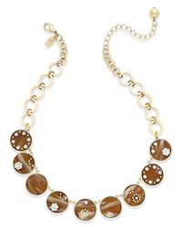 kate spade new york | Brown Out Of Her Shell Gold-tone Tortoiseshell-look Collar Necklace | Lyst